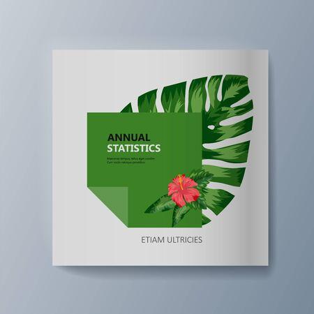 Tropical flowers classification plant description. Vector illustration Illusztráció
