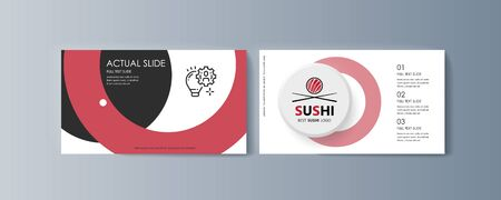 Set of brochures Sushi for marketing the promotion goods and services on market. Vector illustration Illustration
