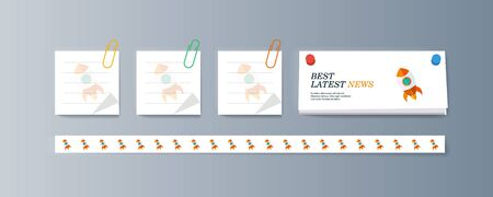 Set of brochures for marketing promotion and the delivery goods. Vector illustration Illustration