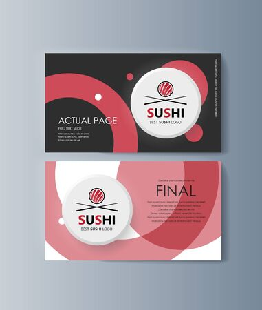 Set of brochures Sushi for marketing the promotion goods and services on market. Vector illustration Stock Illustratie