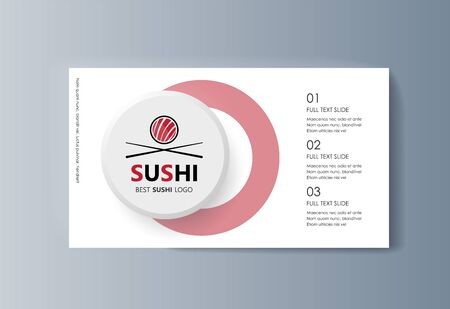 Business presentation Sushi advertising goods and services. Vector illustration 向量圖像