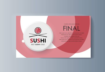 Business presentation Sushi advertising goods and services. Vector illustration Stock Illustratie
