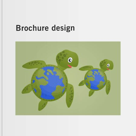 Brochure cover used in marketing and advertising the idea environmental protection. Vector illustration Reklamní fotografie - 133615459