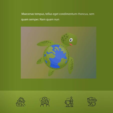Brochure cover used in marketing and advertising the idea environmental protection. Vector illustration Reklamní fotografie - 133615002
