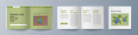 Set of brochures for marketing promoting the idea environmental protection. Vector illustration