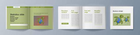 Set of brochures for marketing promoting the idea environmental protection. Vector illustration 版權商用圖片 - 133615001