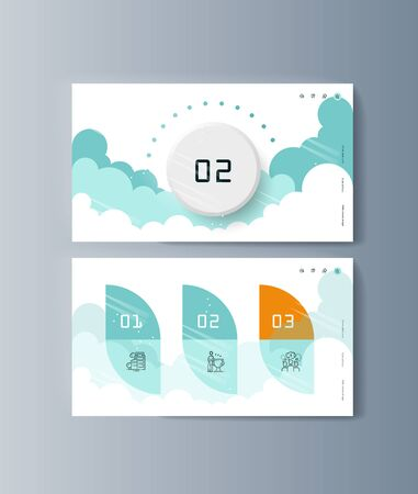 Set of brochures for marketing promotion and the delivery goods. Vector illustration 向量圖像