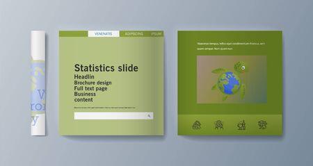 Set of brochures for marketing promoting the idea environmental protection. Vector illustration Reklamní fotografie - 133615095