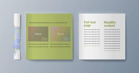 Set of brochures for marketing promoting the idea environmental protection. Vector illustration Reklamní fotografie - 133615097