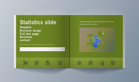 Set of brochures for marketing promoting the idea environmental protection. Vector illustration Reklamní fotografie - 133615101