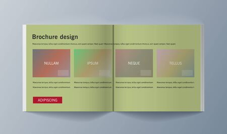 Set of brochures for marketing promoting the idea environmental protection. Vector illustration Reklamní fotografie - 133615108