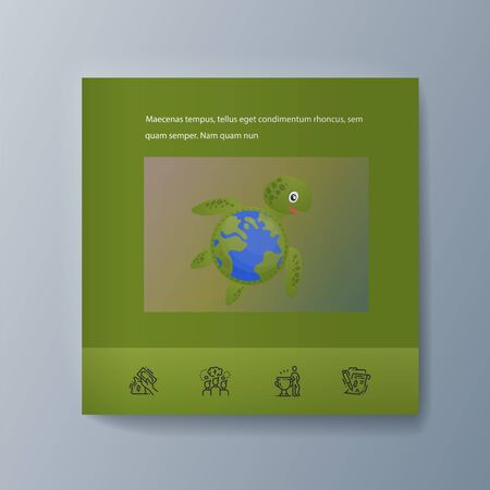 Business presentation brochure advertising the idea environmental protection. Vector illustration 向量圖像