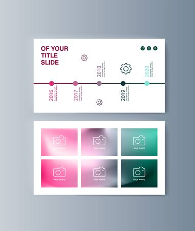 Set of brochures infographics for marketing the promotion goods and services on market. Vector illustration Reklamní fotografie - 133615138