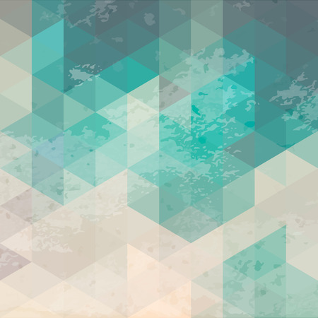 grunge background: Geometric background with grunge texture. Retro wallpaper, banner, cover, flyer, web design