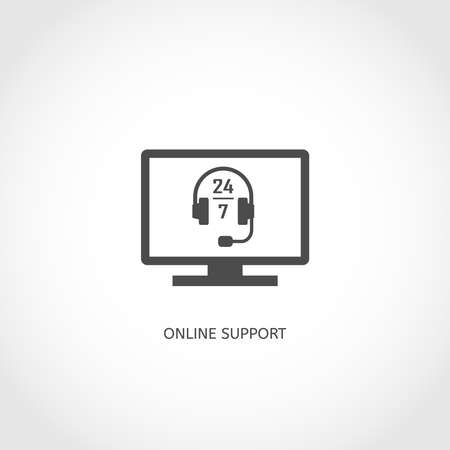 Online support vector icon. Web service concept. Vector
