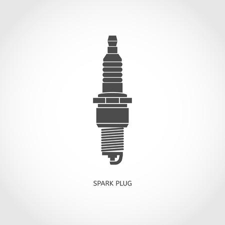 spark plug: Car spark plug icon. Truck replacement illustration Illustration