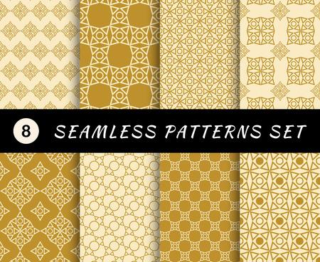 Seamless patterns set. Geometric textures. Abstract backgrounds. backdrop mobile smart phone tablet desktop wallpaper banner web design element scrap booking textile Illustration