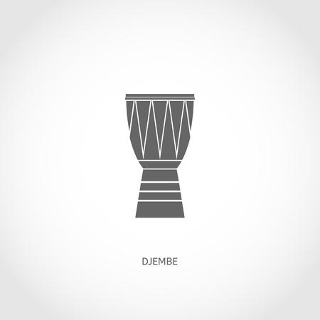 djembe: Musical modern instrument djembe flat vector flat icon
