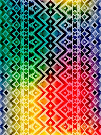 mexico culture: Aztec tribal mexican seamless pattern. Hipster boho chic watercolor background with gradient mesh  for phone case, t-shirt, textile