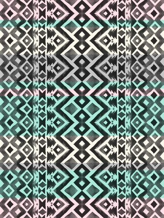 Aztec tribal mexican seamless pattern. Hipster boho chic watercolor background  for phone case, t-shirt, textile