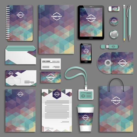 corporative: Corporate identity template set. Business stationery mock-up . Branding design. Letter envelope, card, catalog, pen, pencil, badge, paper cup, notebook, tablet pc, mobile phone, letterhead