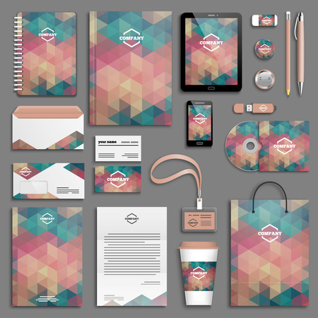 letterhead: Corporate identity template set. Business stationery mock-up . Branding design.