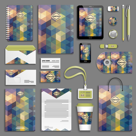 cover concept: Corporate identity template set. Business stationery mock-up with icon. Branding design.