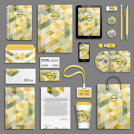 branding: Corporate identity template set. Business stationery mock-up with icon. Branding design.