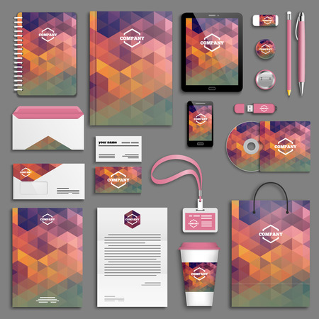 membrete: Modelo de la identidad corporativa establece. Papel del asunto maqueta con el icono. Branding diseño. Vectores