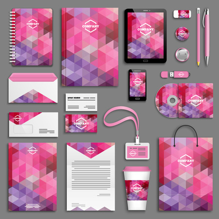 Corporate identity template set. Business stationery mock-up with icon. Branding design. Imagens - 40324065