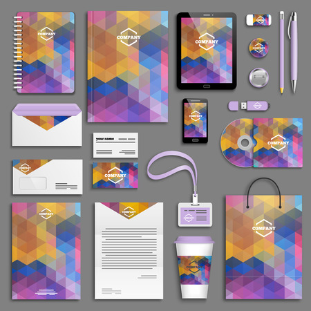 brochure cover: Corporate identity template set. Business stationery mock-up with icon. Branding design.