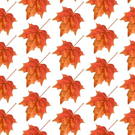 web site background: Autumn leaves seamless pattern. Texture for wallpaper, web site background, textile Illustration