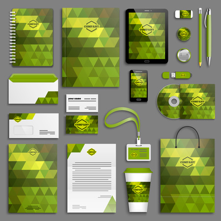 Corporate identity template set. Business stationery mock-up . Branding design. Banco de Imagens - 41163425