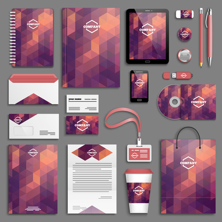 corporative: Corporate identity template set. Business stationery mock-up . Branding design.