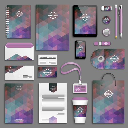 corporative: Corporate identity template set. Business stationery mock-up with logo. Branding design.