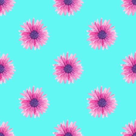 golden daisy: Acuarela sin fisuras patr�n floral en estilo boho chic.