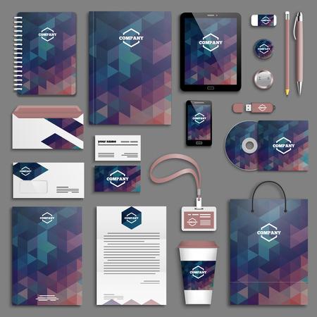 Corporate identity template set. Business stationery mock-up with logo. Branding design. Stock fotó - 41193888