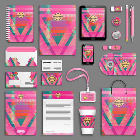 package design: Corporate identity template set. Business stationery mock-up with logo. Branding design.
