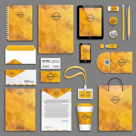corporativo: Modelo de la identidad corporativa establece. Papel del asunto maqueta con el logotipo. Branding diseño. Vectores