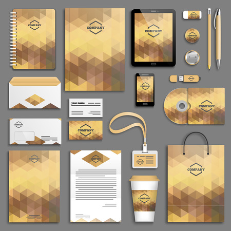 cover concept: Corporate identity template set. Business stationery mock-up with logo. Branding design.