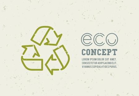 basura: Reciclaje de iconos de basura concepto. Aprovechamiento de desechos. Ilustración vectorial