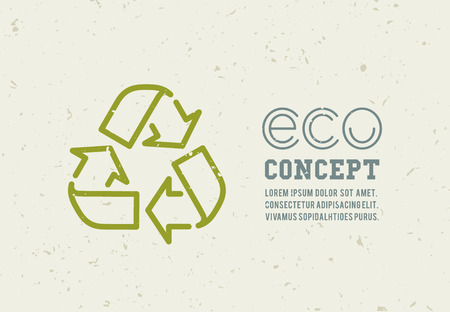 raccolta differenziata: Riciclaggio icone immondizia concetto. Utilizzo dei rifiuti. Illustrazione vettoriale Vettoriali