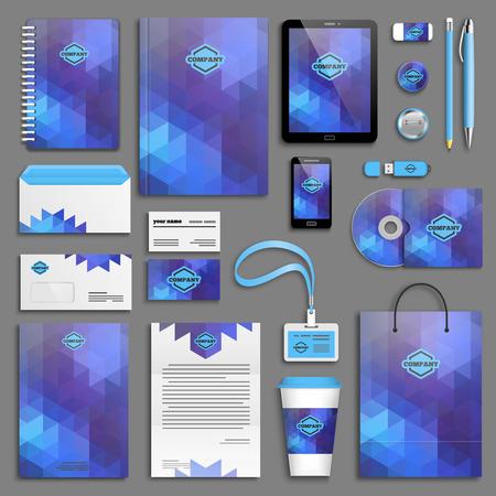 corporative: Corporate identity template set.Branding design.