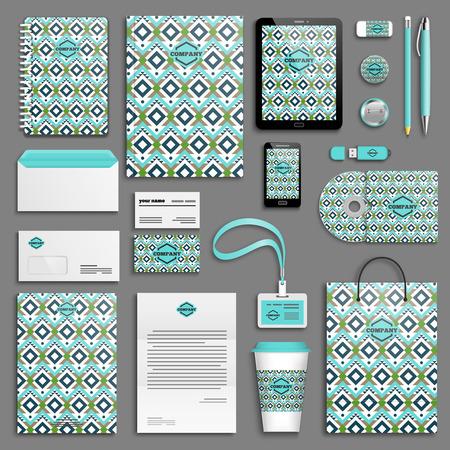 Corporate identity template set. Branding design. Ilustração