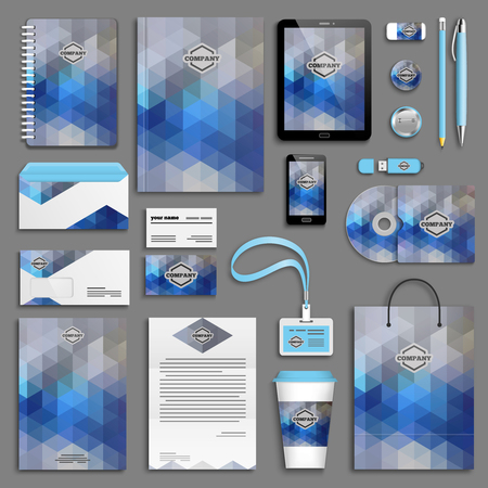 corporate identity template: Corporate identity template set. Business stationery mock-up . Branding design.