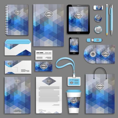 Corporate identity template set. Affari cancelleria mock-up. Branding Design.
