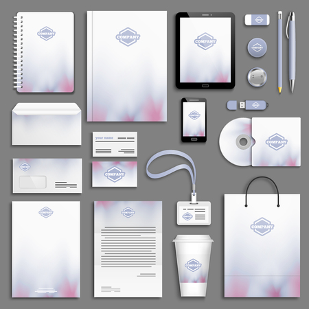 branding: Corporate identity template set. Business stationery mock-up with . Branding design.