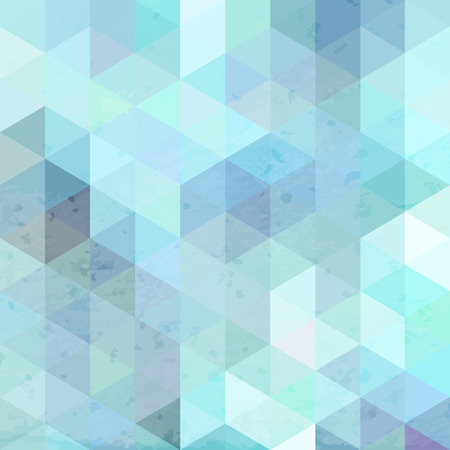 wall decor: Aqua blue geometric retro background with grunge texture. Vintage wallpaper.