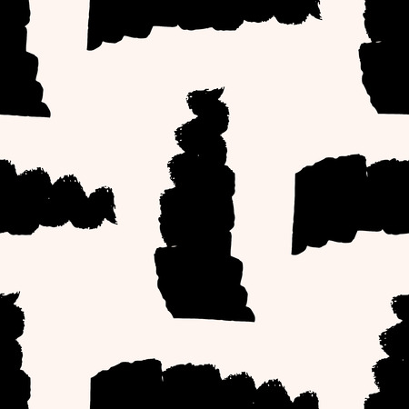 wickerwork: Minimalistic scandinavian seamless pattern with thick black strokes. Geometric texture. Abstract background.