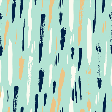 Aqua Mint gold Scandinavian seamless pattern with brush strokes. Geometric texture. Abstract background.